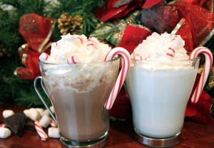 Homemade Peppermint Whipped Cream With Hot Chocolate