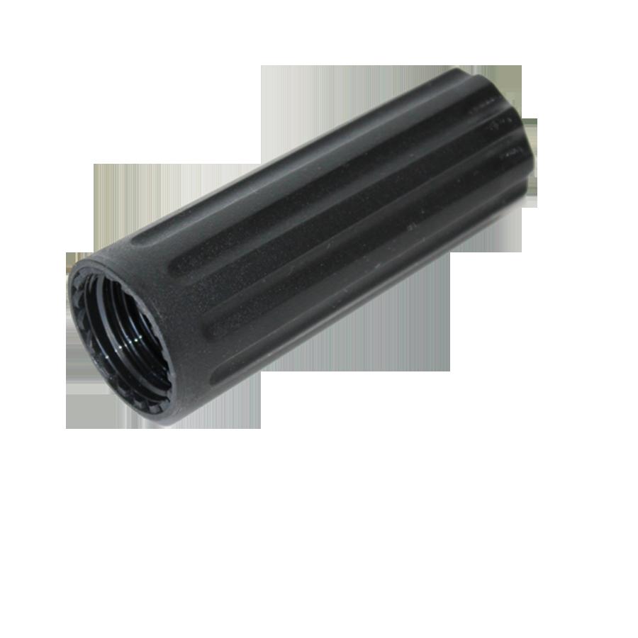 black plastic charger holder